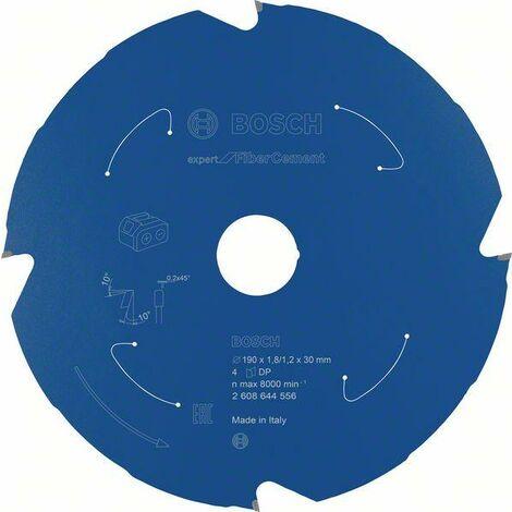 Bosch Professional Lame de scie circulaire Expert for Fibre Cement pour scies sans fil 190 x 1,8/1,2 x 30 T4 - 2608644556