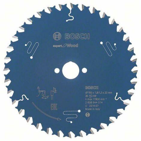 Bosch Professional Lame de scie circulaire Expert for Wood, 160 x 20 x 1,8 mm, 36 dents - 2608644014