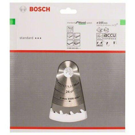 Bosch Professional Lame de scie circulaire Speedline Wood 165 x 20/16 x 1,7 mm, 24