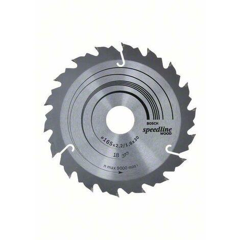 Bosch Professional Lame de scie circulaire Speedline Wood 165 x 30 x 2,4 mm, 18