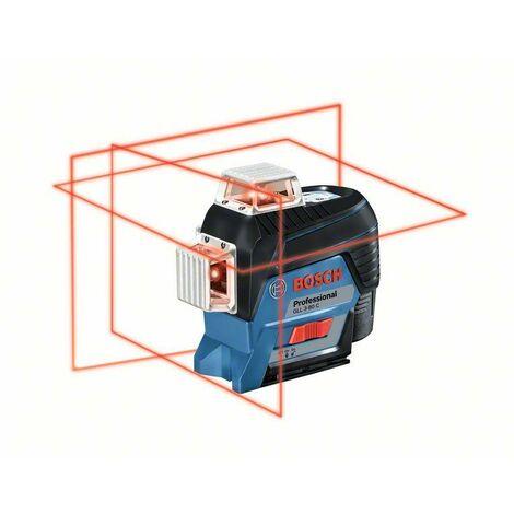 Bosch Professional Laser lignes GLL 3-80 C, avec 1 batterie Li-Ion 2,0 Ah, assortiment d'accessoires - 0601063R02