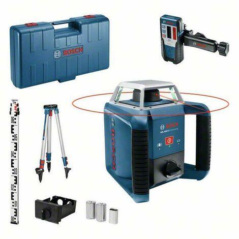 Bosch Professional Laser rotatif GRL 400 H Set, dans coffret de transport avec cellule de réception LR 1 Professional - 06159940JY
