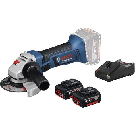 Bosch Professional Meuleuse angulaire sans fil GWS 18-125 V-LI, avec 2 x 4.0 Ah Li-Ion batterie, L-BOXX - 060193A30Y
