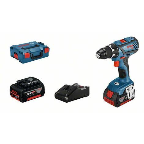 Bosch Professional Perceuse-visseuse sans fil GSR 18V-28, 2 batteries GBA 18V 4.0Ah, Chargeur rapide 18V-40 - 06019H410A
