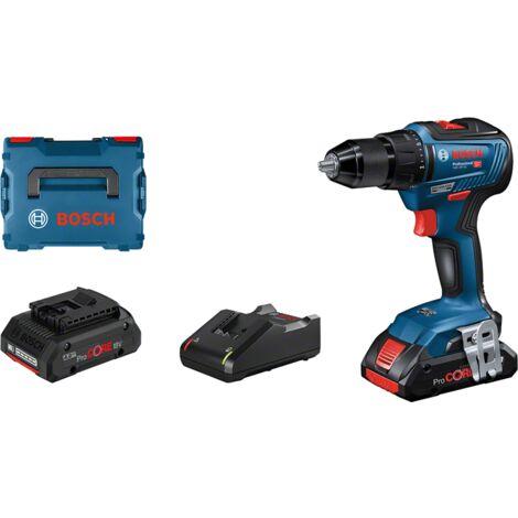 Bosch Professional Perceuse-visseuse sans fil GSR 18V-55, 2 batteries 18V 4.0Ah, Chargeur rapide GAL 18V-40 - 06019H5204
