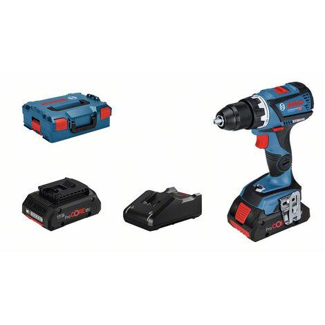 Bosch Professional Perceuse-visseuse sans fil GSR 18V-60 C, 2 batteries ProCORE18V, chargeur GAL 18V-40 - 06019G110B