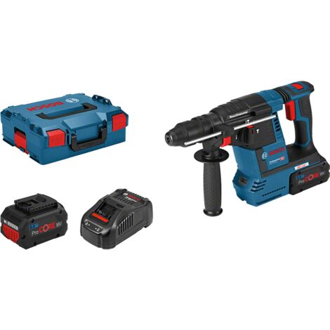 Bosch Professional Perforateur sans-fil SDS-plus GBH 18V-26 F, L-BOXX avec 2 batteries ProCORE18V 8,0 Ah Li-Ion - 061191000E