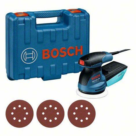 Bosch Professional Ponceuse excentrique GEX 125-1 AE, avec 3 x Disque abrasif C470, en coffret - 0601387504