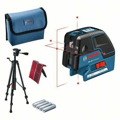 Bosch Professional Punktlaser GCL 25, mit Schutztasche und Baustativ BS 150