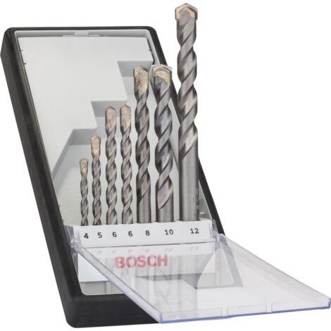 Bosch Professional RobustLine Betonbohrer-Satz Silver Percussion, 7-teilig, Bohrer-Satz