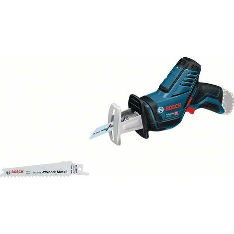 Bosch Professional Scie-sabre sans fil GSA 10,8 V-LI solo (sans batterie ni chargeur) + 2 Lames de scie - 060164L902
