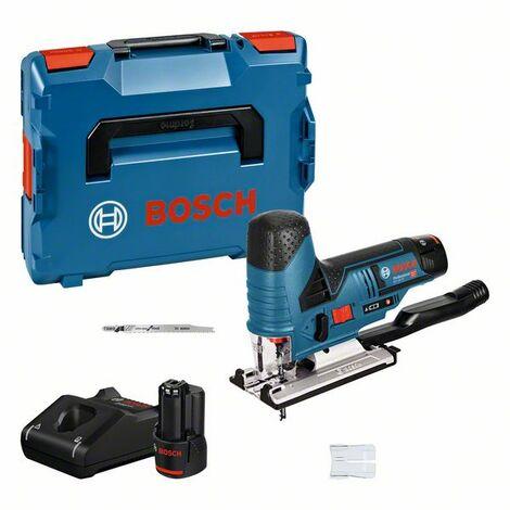 Bosch Professional Scie sauteuse sans fil GST 12V 70 2 batteries 12 V 3,0 Ah Chargeur rapide et 2 lames offerte dans L Boxx 06015A1005