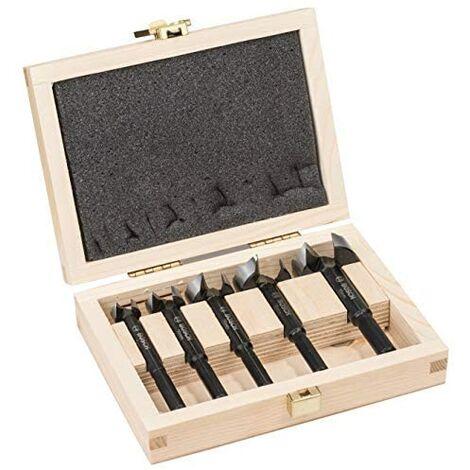 Bosch Professional Set de 5 brocas fresadoras para madera (para madera, Ø 15/20/25/30/35mm, longitud 90 mm, accesorios para taladro)