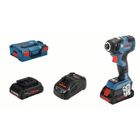 Bosch Professional Visseuse à chocs sans fil GDR 18V-200 C, 2 x 4,0 Ah ProCORE18V batteries - 06019G4106