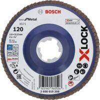 Bosch Professional X-LOCK Fächerscheibe X571 Best for Metal, 115mm, Schleifscheibe, Ø 115mm, K 120