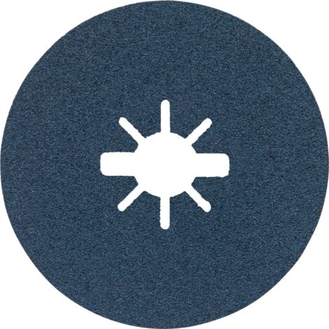 10x Bosch Fächerschleifscheibe gewinkelt X551 Ø 115 mm K120 Glasgewebe blueMetal