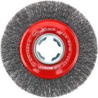 Bosch Professional X-LOCK Scheibenbürste Clean for Metal 115mm, gewellt, Bürste, Ø 115mm, 0,3mm