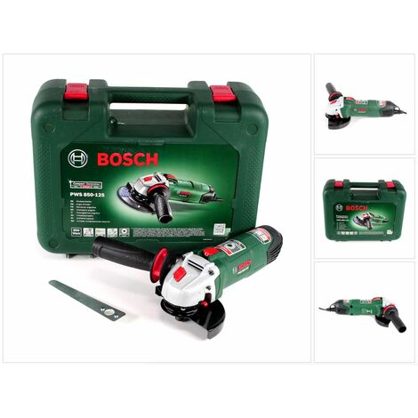 Bosch PWS 850-125 Meuleuse angulaire 850 W 125 mm + Coffret de transport