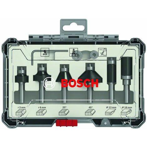 Bosch Rand- und Kantenfräser-Set, 1/4 Zoll-Schaft, 6-teilig - 2607017470
