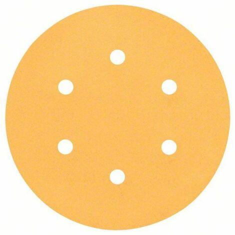 BOSCH SCHLEIFBLATT C470, 50ER-PACK, 6 LÖCHER, KLETT, 150 MM, 180