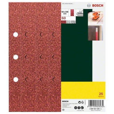 8 Löcher 25-teilig 93 x 230 mm Bosch Schleifblatt-Set für Schwingschleifer