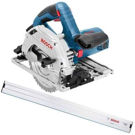 Bosch scie circulaire 165mm 1200w gks55+g + fsn1600 - 0601682002 >>