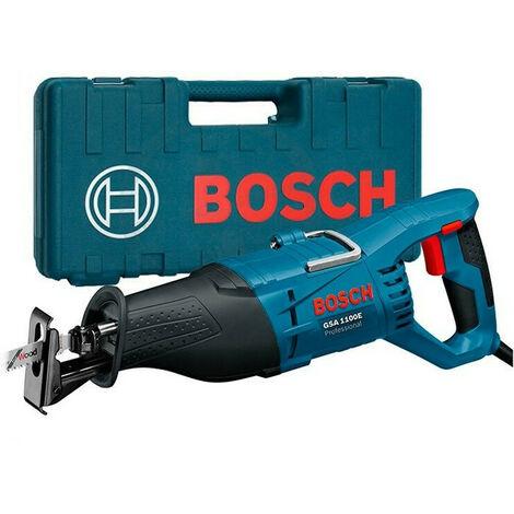 Bosch Scie sabre 1100W GSA 1100 E 060164C800 avec 2 lames (pour bois, métal), LED, 230 mm Profondeur de coupe