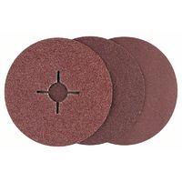 BOSCH - Set 12 discos lijadores fibra amoladora, corindón D= 125