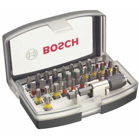 Bosch Set Completo con Inserti Avvitare 31 bit di Avvitamento con Codifica Cromatica, l= 25 mm