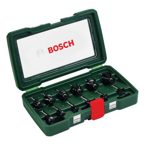 Bosch Set de 12 fraises au carbure (queue 8 mm)