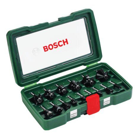 Bosch Set de 15 fraises au carbure (queue 8 mm)