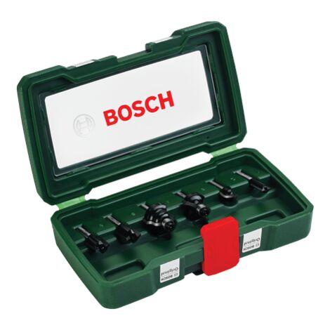 Bosch Set de 6 fraises au carbure (queue 1/4'')