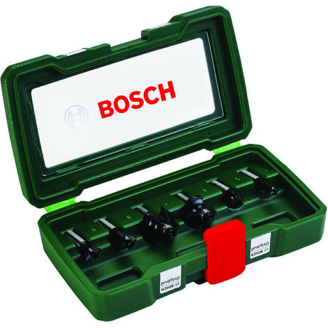Bosch Set de 6 fraises au carbure (queue 8 mm)