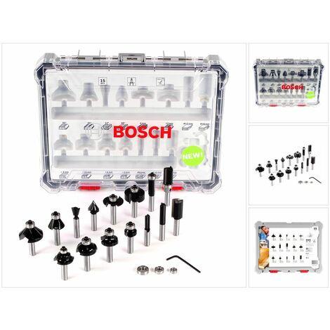 Bosch Set de brocas fresadoras mixtas de 15 piezas con vástago de inserción de 8 mm ( 2607017472 )