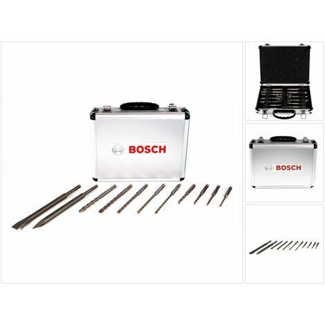 Bosch Set de forets et de burins 11 pcs. pour SDS-Plus dans une valise en aluminium ( 2608578765 )
