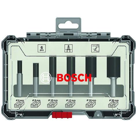 Bosch Set de fraises droites 6/8/10/12/16/20 mm, Queue de 6 mm, 6 pcs. ( 2607017465 )