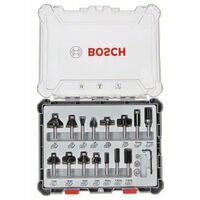 Bosch Set frese da 15 pz. miste codolo da 6 mm - 2607017471