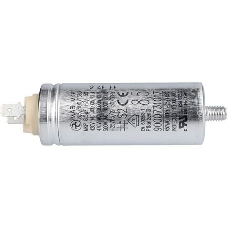 Bosch Siemens Kondensator, Motorkondensator für Trockner 8,5µF mit Steckfahnen - Nr. 610150
