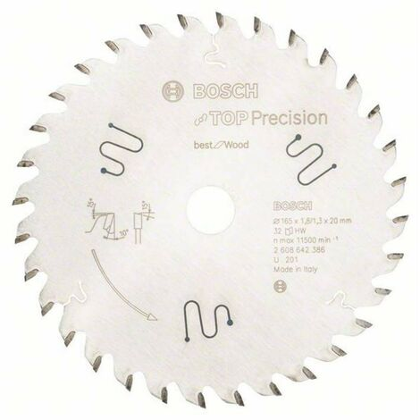 BOSCH - Sierra circular Top Precision Best Wood 165x20x1,8, 20