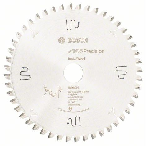 BOSCH - Sierra circular Top Precision Best Wood 216x30x2,3, 48