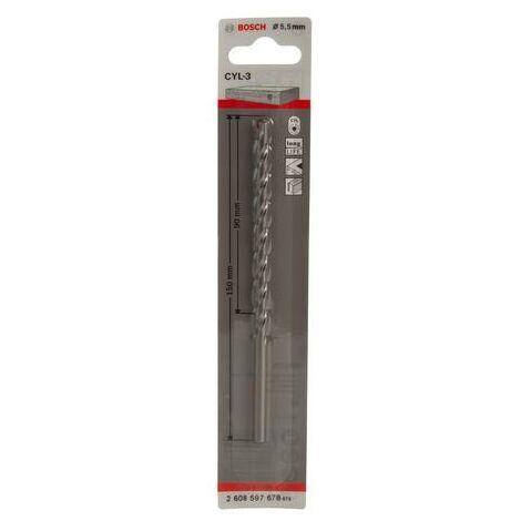 Bosch Silver Percussion Concrete Drill Bit - 5.5mm x 50mm x 85mm