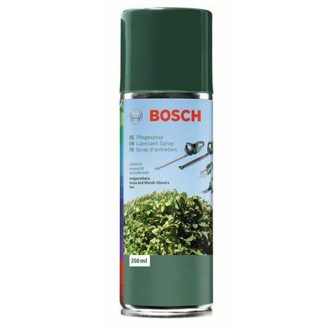 BOSCH spray d'entretien 250 ml pour tous les outils électriques de coupe au jardin