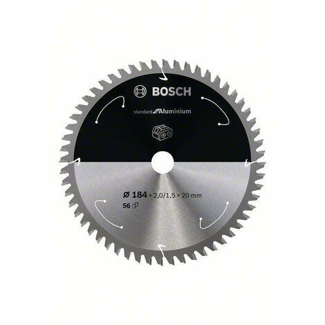 Bosch Standard pour lame de scie circulaire en aluminium pour scies sans fil 184x2/1.5x20, T56 - 2608837768