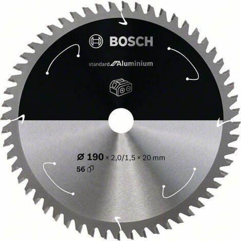 Bosch Standard pour lame de scie circulaire en aluminium pour scies sans fil 190 x 2/1,5 x 20 T56 - 2608837769