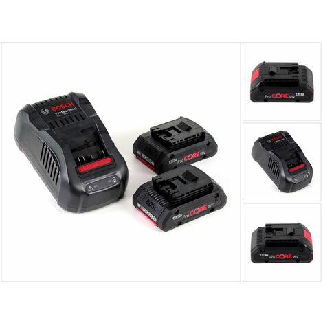 Bosch Starter Set 18V, 2x Batteries ProCORE 4,0Ah + Chargeur GAL 1880 CV ( 1600A016GF )