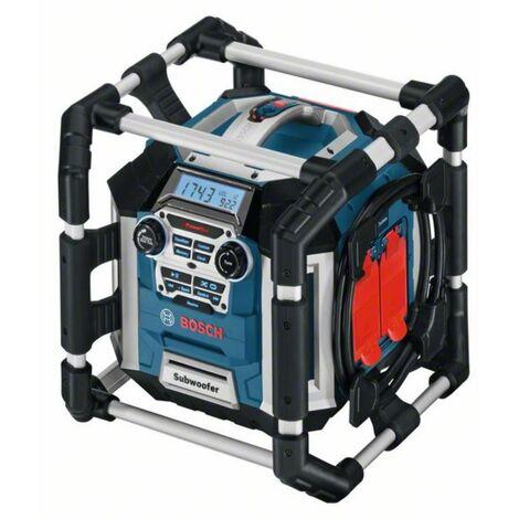 BOSCH Station radio de chantier GML 50 avec télécommande et fonction de chargement de la batterie