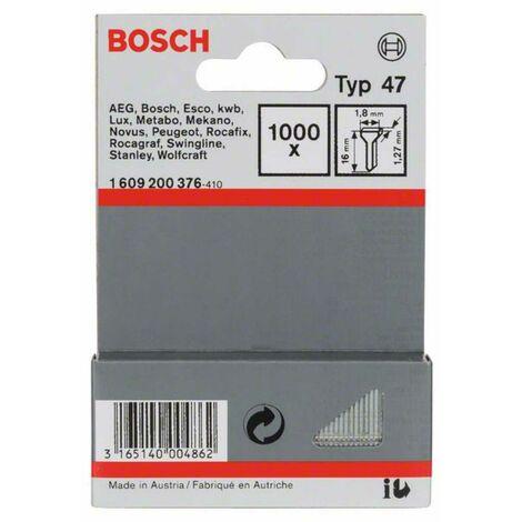 Bosch Tackernagel Typ 47, 1,8 x 1,27 x 16 mm, 1000er-Pack