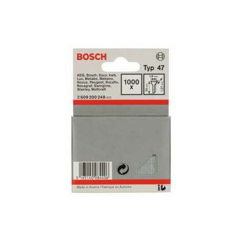 Bosch Tackernagel Typ 47, 1,8 x 1,27 x 30 mm, 1000er-Pack