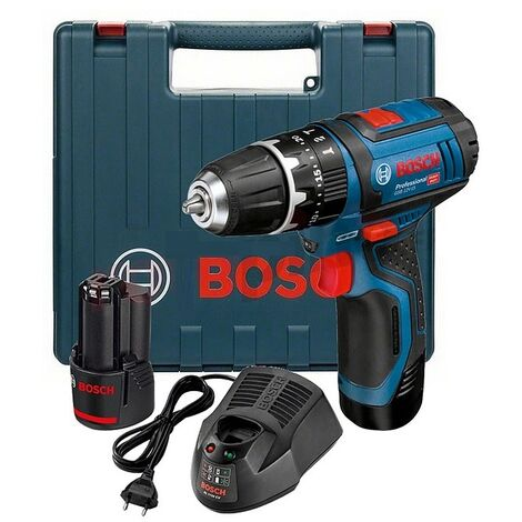 Bosch - Taladro-atornillador a batería de 12V 2.0Ah Li-Ion con maletín - GSB 12V-15