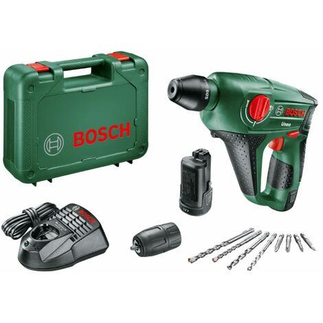 Bosch Taladro percutor a batería 12 V Uneo con 2 baterías de 2,5 Ah + accesorios